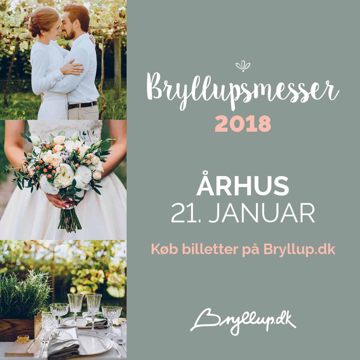 Bryllupsmesse i Aarhus den 21. januar og i Vejle den 4. februar 2018